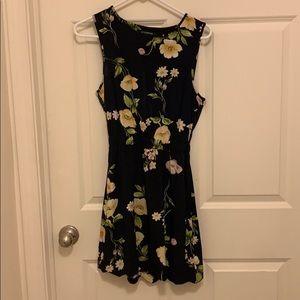 Mini navy floral dress